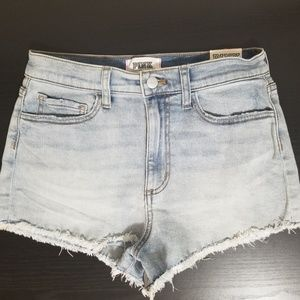 VS PINK High Waisted Cut Off Shorts
